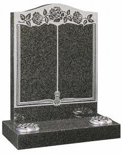 Dark Grey Granite Headstone - 16022